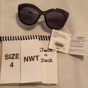 Janie and Jack black sunglasses 4 and up NWT